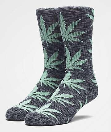 HUF Plantlife Melange Black Crew Socks