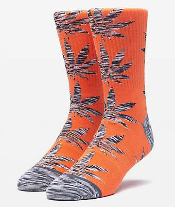 HUF Plantlife Melange Leaves Rust Crew Socks