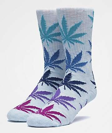 HUF Plantlife Melange Light Blue Crew Socks