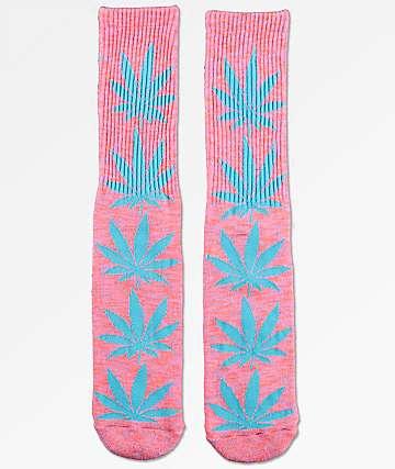 HUF Plantlife Melange Magenta & Mint Crew Socks