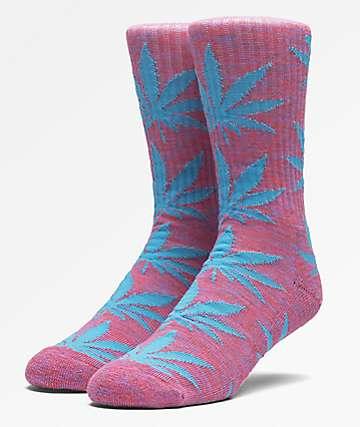 HUF Plantlife Melange Magenta Crew Socks
