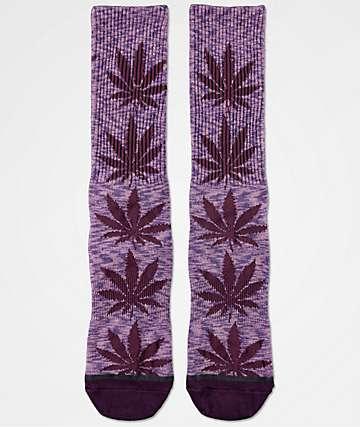 HUF Plantlife Melange Purple Crew Socks