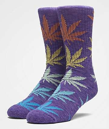 HUF Plantlife Melange Purple Socks
