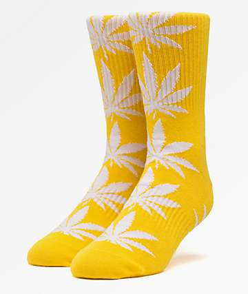HUF Plantlife Mineral Yellow Crew Socks