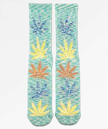 HUF Plantlife Mint Melange Crew Socks