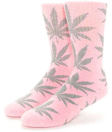 HUF Plantlife Pink & Heather Grey Crew Socks