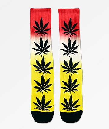 HUF Plantlife Rasta Gradient Dye Crew Socks