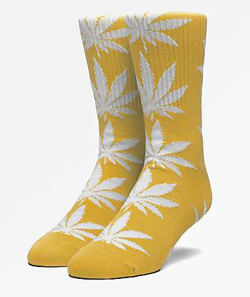 HUF Plantlife Sauterne Yellow Crew Socks
