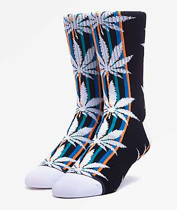HUF Plantlife Serape Black Crew Socks