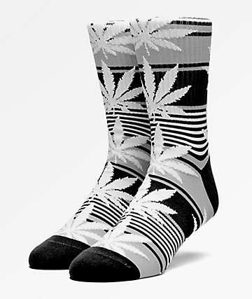 HUF Plantlife Stripe Black Crew Socks