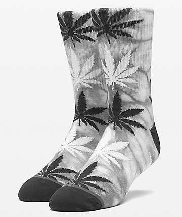 HUF Plantlife Tie Dye Black Crew Socks