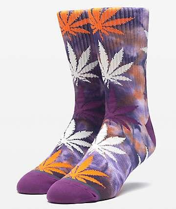 HUF Plantlife Tie Dye Rust Crew Socks