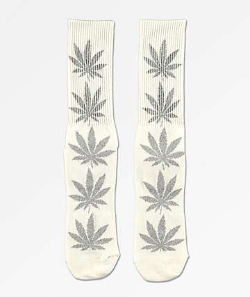 HUF Plantlife Tinsel White Crew Socks