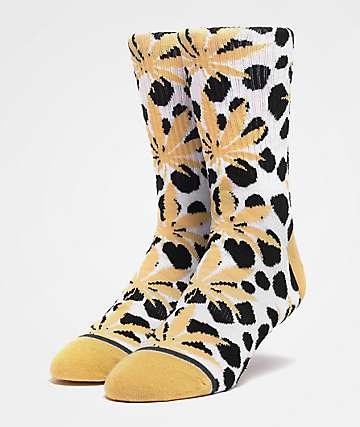 HUF Plantlife Wildlife White Crew Socks