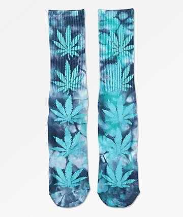 HUF Plantlife calcetines azules con efecto tie dye