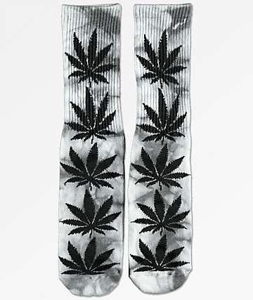 HUF Plantlife calcetines con efecto tie dye gris
