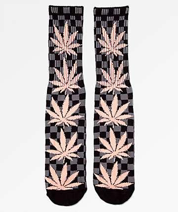 HUF Plantlife calcetines negros de cuadros