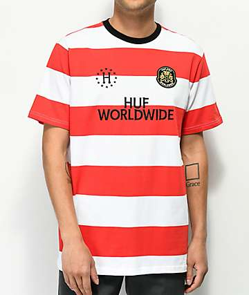 HUF Playmaker Red & White Stripe Knit T-Shirt