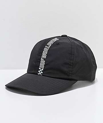 HUF Pole Position Black Strapback Hat