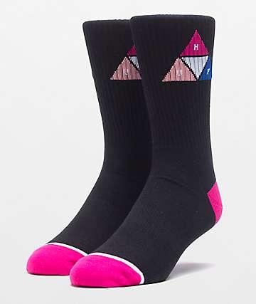 HUF Prism Triangle Black Crew Socks