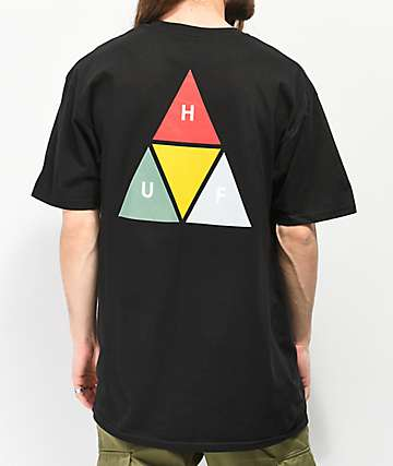 HUF Prism Triangle Black T-Shirt