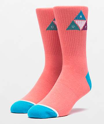 HUF Prism Triangle Desert Flower Crew Socks
