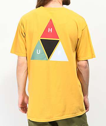 HUF Prism Triangle Yellow T-Shirt