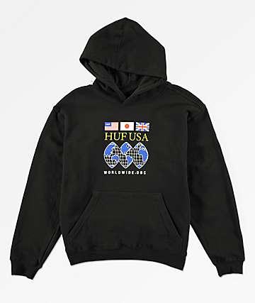 HUF Regional Tour Black Hoodie