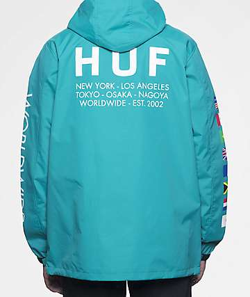 HUF Regional Tour Tropical Green Anorak Jacket