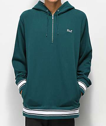 HUF Relay sudadera con capucha anorak verde