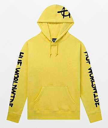 HUF Riot Yellow Hoodie