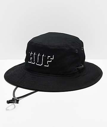c60c809a1c5 HUF Rivington Boonie Black Bucket Hat
