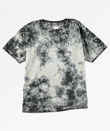 HUF Rose camiseta negra con efecto tie dye para niños