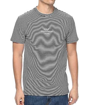 HUF Royale Striped Black & White T-Shirt
