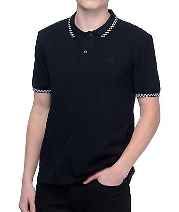 HUF Rudie Black Polo Shirt