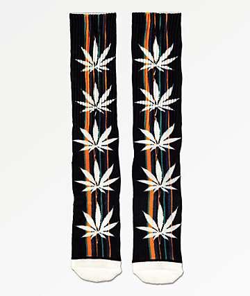 HUF Serape Plantlife Black Crew Socks