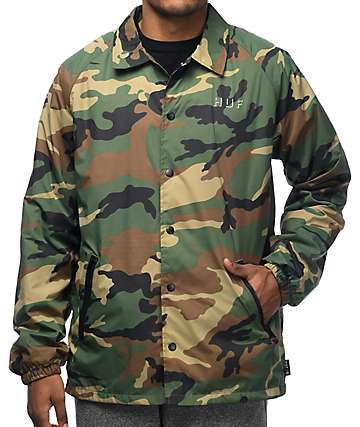 HUF Shadow chaqueta entrenador camuflado