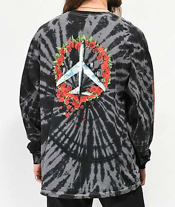 HUF Shakedown Black Tie Dye Long Sleeve T-Shirt