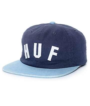 HUF Shortstop gorra strapback en azul marino