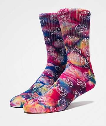 HUF Shrooms calcetines con efecto tie dye