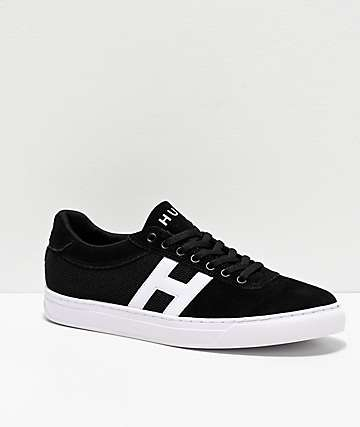 HUF Soto Black & White Skate Shoes