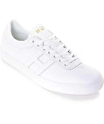HUF Soto zapatos de skate de cuero blanco