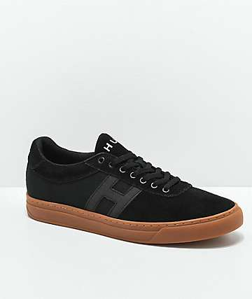 HUF Soto zapatos skate en negro y goma