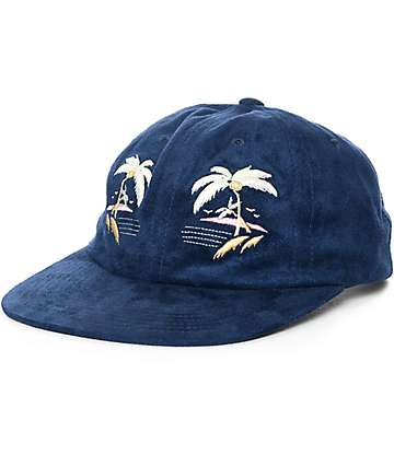 HUF Souvenir Navy Strapback Hat
