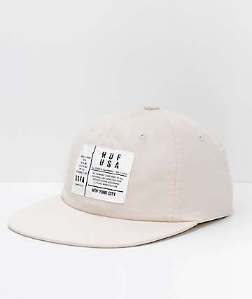HUF Spec Stone 6 Panel Strapback Hat