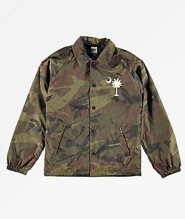 HUF Spirit chaqueta entrenador de camuflaje para niños