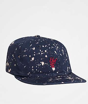 HUF Splattered Bleach Strapback Hat