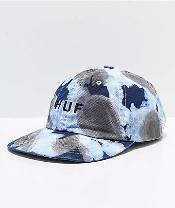HUF Spot Dyed Blue Strapback Hat