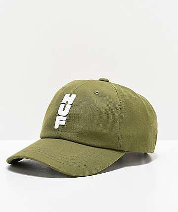 HUF Stacked Olive Strapback Hat