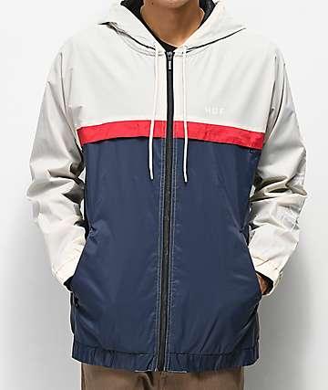 HUF Standard Beige Windbreaker Jacket